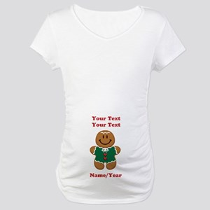 Personalize Gingerbread Baby [elf] Maternity T-Shi